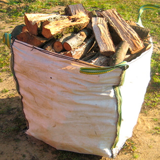 Sacks of firewood